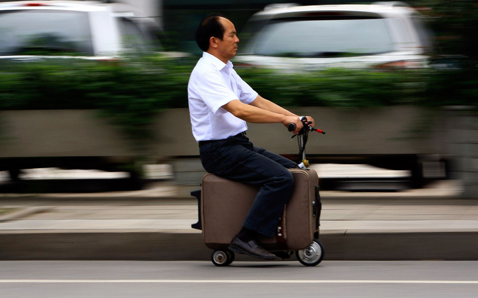 Invention le scooter transportable