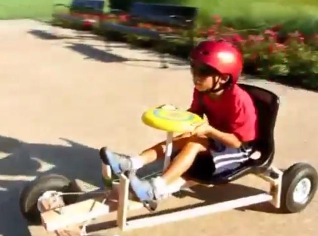 Un go kart insolite confort electrique blog - Fabriquer une guirlande electrique ...