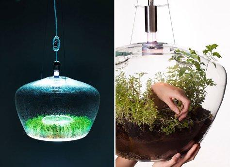 Lampe insolite aquarium