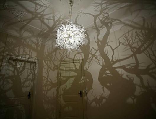 Lampe insolite arbre