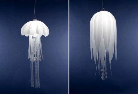 Lampe insolite méduse