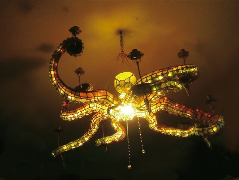 Lampe insolite pieuvre